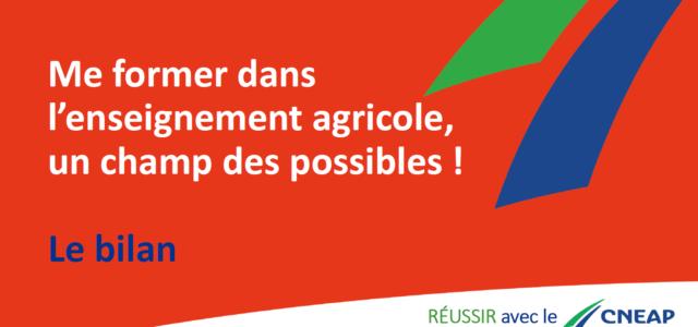 """Ci-dessous la vidéo """"Replay"""" du webinaire : Me former dans l'Enseignement Agricole, le champ des possibles."""